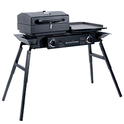 blackstone grills tailgater portable gas grill and griddle combo
