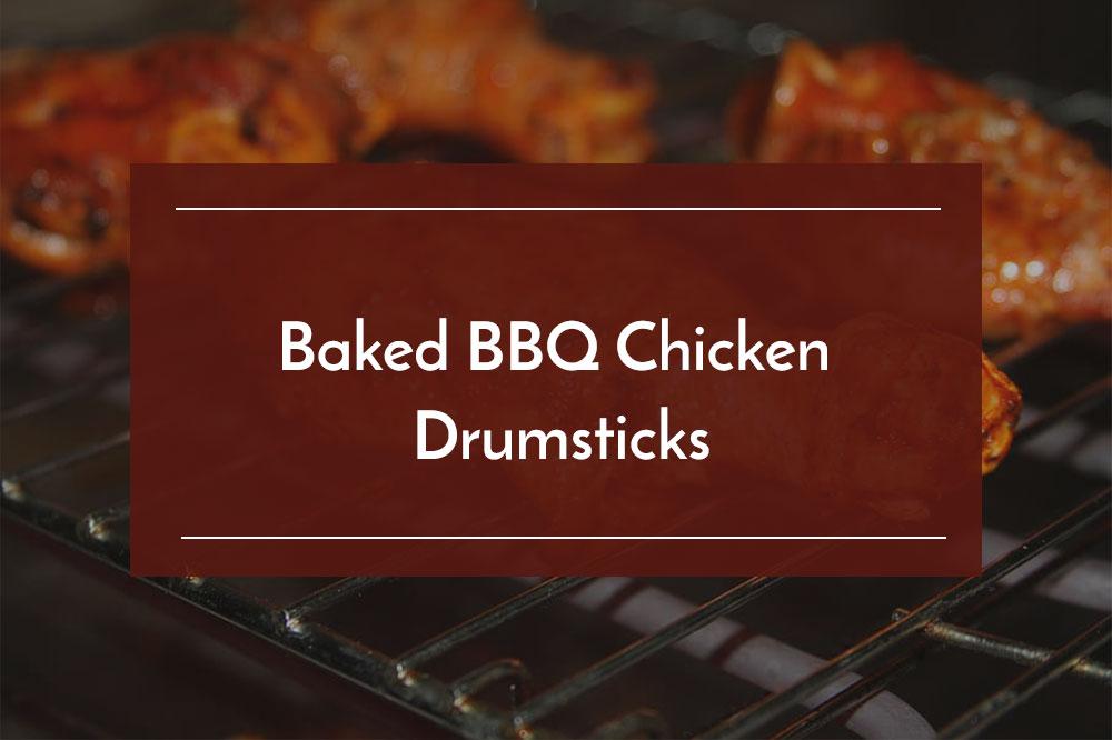 baked bbq chicken drumstick
